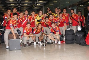 Spain Winners Of the UEFA Euro U21 Arrive To Spain